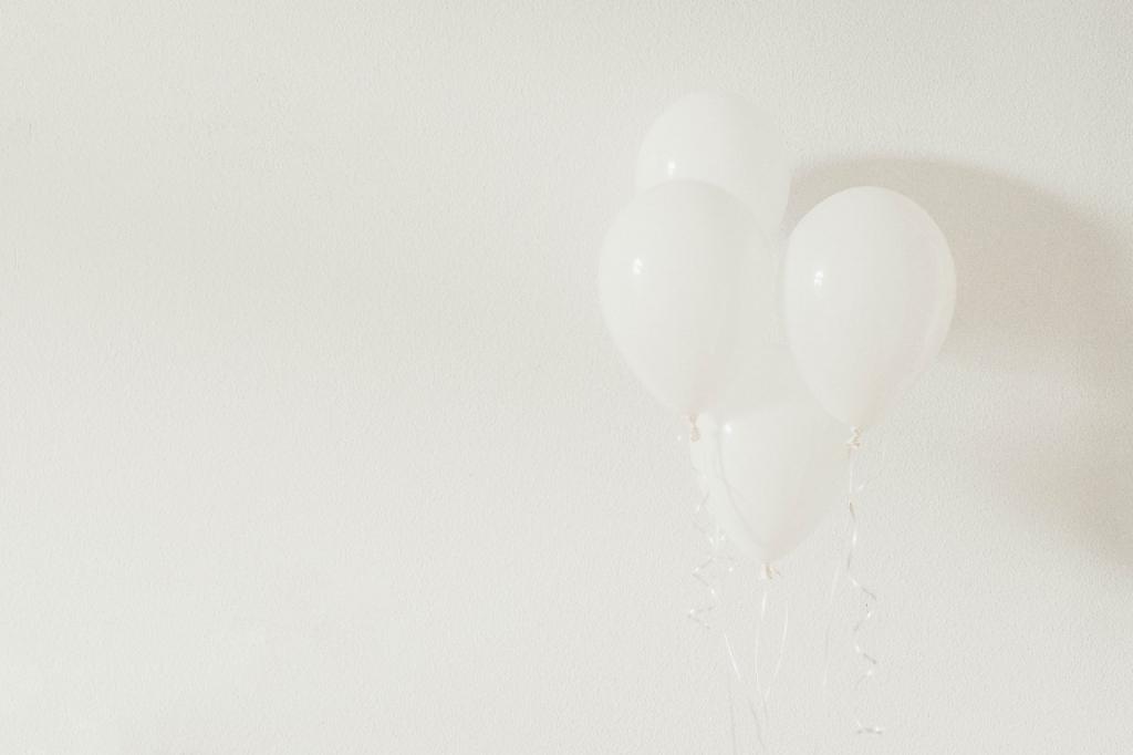 Witte helium ballonnen