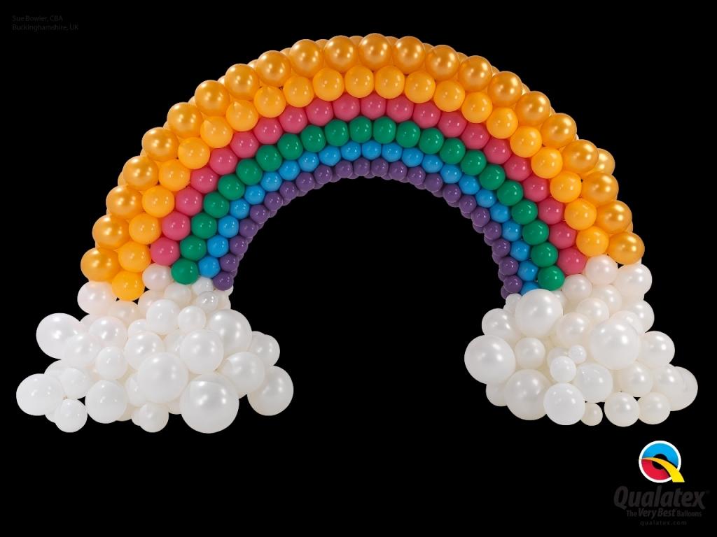 geboorte regenboog ballonnen