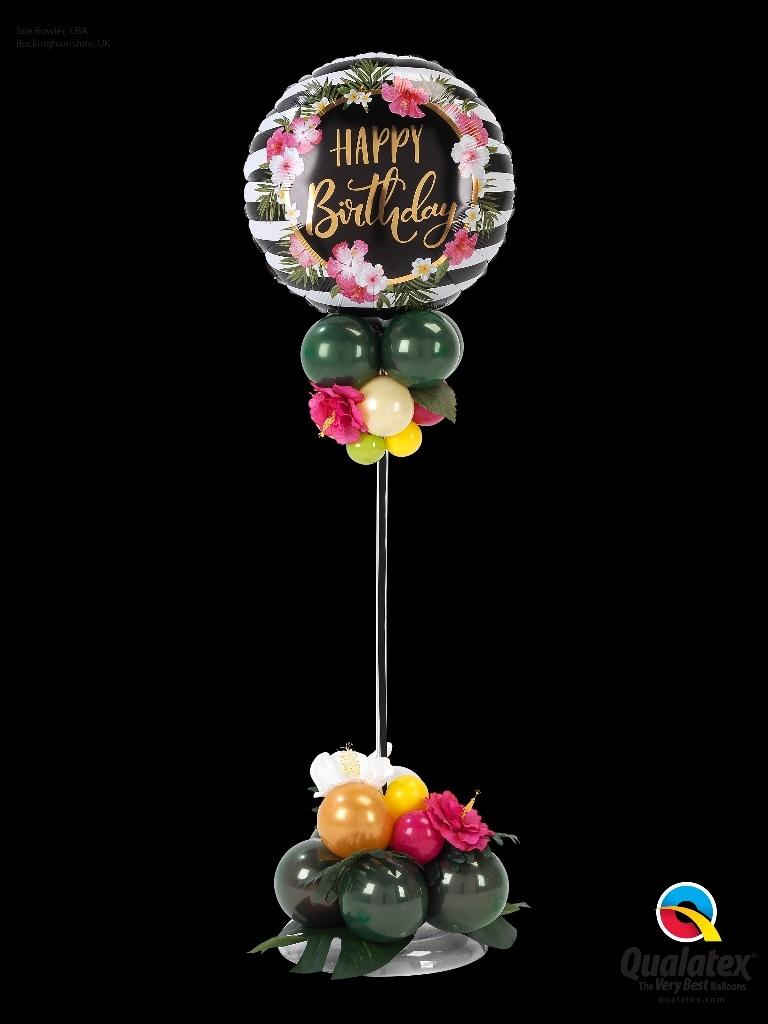 ballonnenpilaar happy birthday