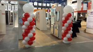 Ballonpilaren rood/wit