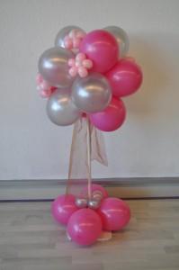 Ballonnen boom roze