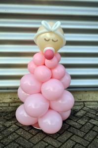 Ballon baby roze