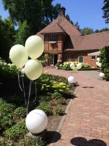 Helium ballonnen Auberge du Bonheur
