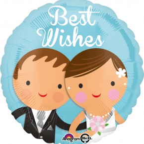 Bruidspaar best Wishes Folie ballon