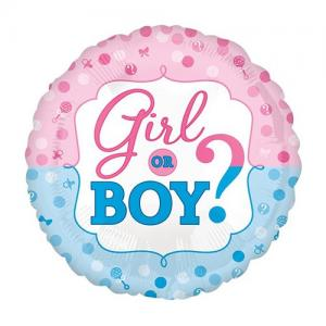 Girl or Boy Folie ballon