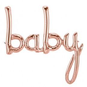 Baby ballon rosé goud | Folie ballon