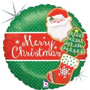 Merry Christmas Folie Ballon   Fijne feestdagen Folie Ballon