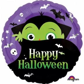 Happy Halloween Folie Ballon   Dracula Folie Ballon