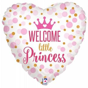 Welcome little princess | Baby meisje Folie ballon