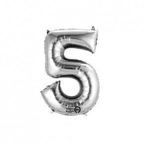 Nummer 5 Folie ballon