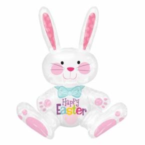 Happy Easter   Paashaas Folie Ballon l Vrolijk Pasen Folie Ballon